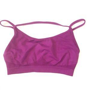 Fabletic's Women's Purple Seamless Sports-Bra